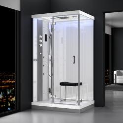Kabina prysznicowa z sauną  EZ 610103  MILAN  120 x 90 x 217cm biała lewa