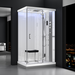 Kabina prysznicowa z sauną  EZ 610103  MILAN  120 x 90 x 217cm biała prawa