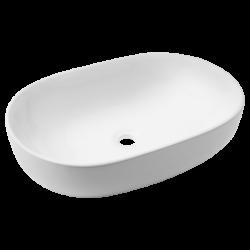 Umywalka ceramiczna nablatowa INV owal 60 cm 50 cm