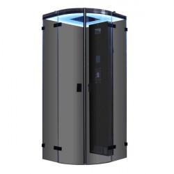 Kabina z sauna bez brodzika  schwarz 100x100