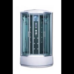 Kabina prysznicowa z hydromasazem  Michał -oświetlenie led14 dysz-90x90x215 cm