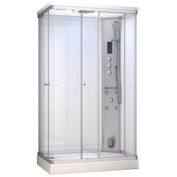 Kabina prysznicowa z sauną  EZ 610104  MILAN 120 x 80 x 217cm biała