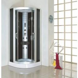 Kabina prysznicowa z hydromasażem 100X100 Note  z niskim brodzikiem