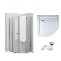 Kabina prysznicowa otwierana z brodzikiem slim 90x90 cm