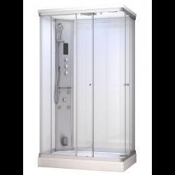 Kabina prysznicowa z sauną  EZ 690110  MILAN  biała 120 x 80 x 217cm LEWA