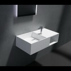 Umywalka konglomeratowa biała - Solid Stone - 80 x 40 x 20 cm