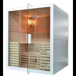 Sauna sucha z piecem  Harvia  4 osobowa 180 x160x201 cm BIAŁA