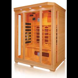 Sauna na podczerwień  3 osobowa z tubami grzewczymi kwarcowymi 153x125x190