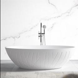 Wanna wolnostojąca wykonana z odlewu mineralnego Lita biały mat  - 180 x 85 x 52 cm