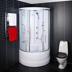 Kabina prysznicowa z hydromasażem 90x90  Selena z wysokim brodzikiem