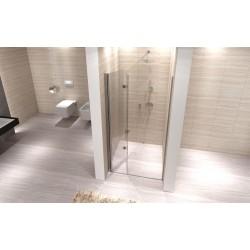 Drzwi wnękowe prysznicowe składane szerokość 80 cm