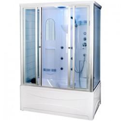 Kabina prysznicowa z hydromasażem 150x950  Wezywiusz  z wysokim brodzikiem