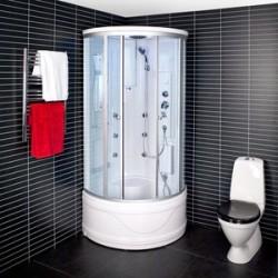 Kabina prysznicowa z hydromasażem 80x80 Zefira z wysokim brodzikiem