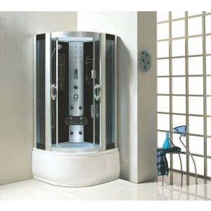 Kabina prysznicowa z hydromasażem 100x100 Lena z wysokim brodzikiem