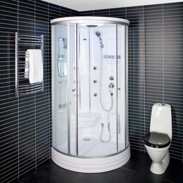 Kabina Prysznicowa Z Hydromasażem 90x90 Selena Z Niskim Brodzikiem