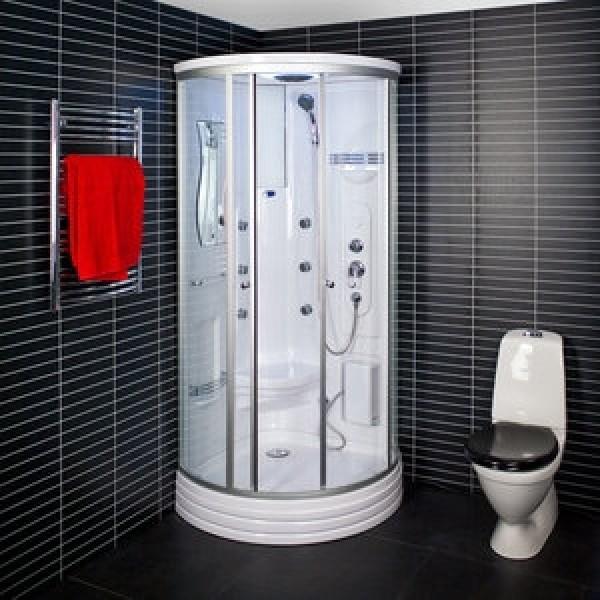 Kabina Prysznicowa Z Hydromasażem 80x80 Zefira Z Niskim Brodzikiem